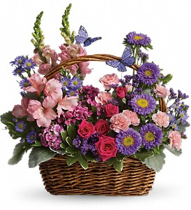Country Basket Blooms - Spring Flowers 2016