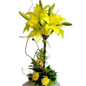 Lily Topiary With Roses